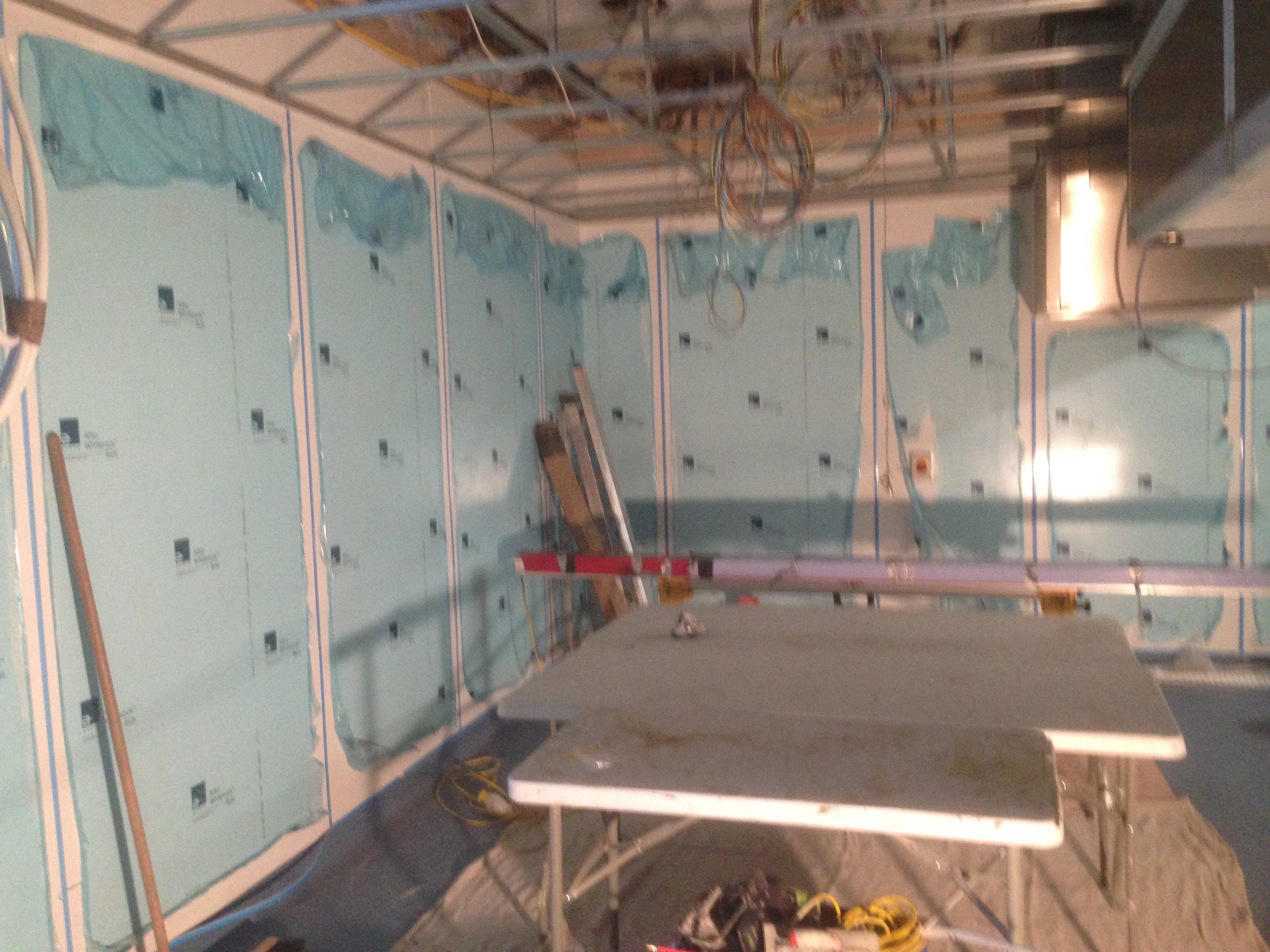 Whiterock cladding in school kitchen 1